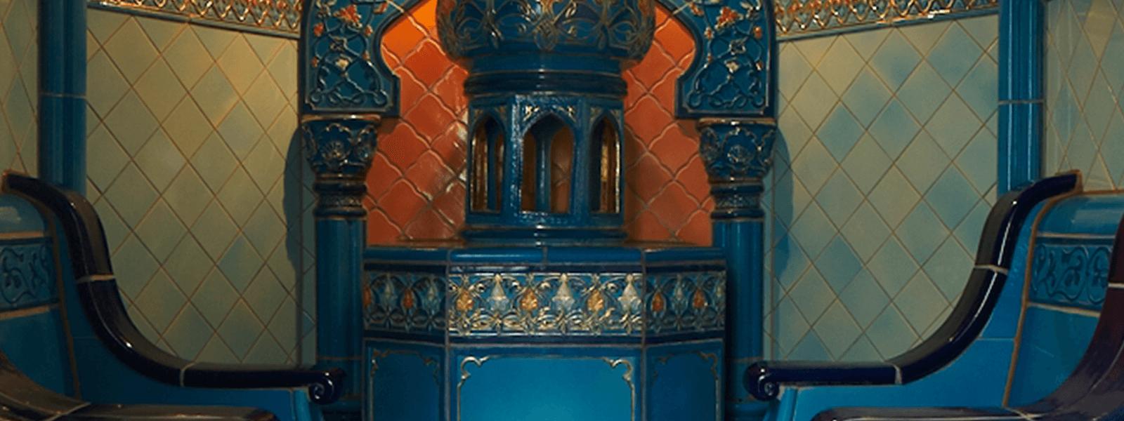 Blick in das orientalische Rasulbad