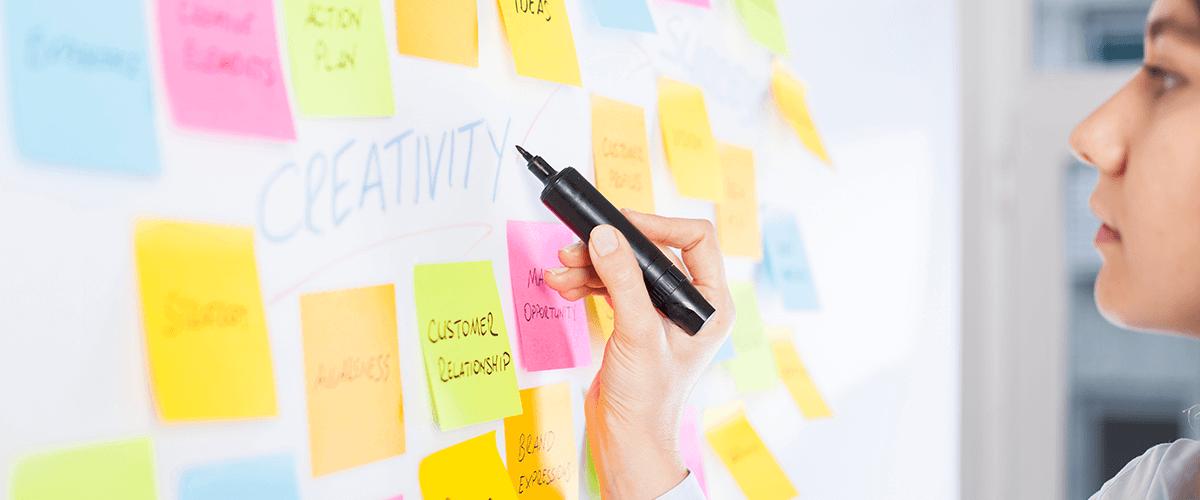 Ideensammlung am Whiteboard