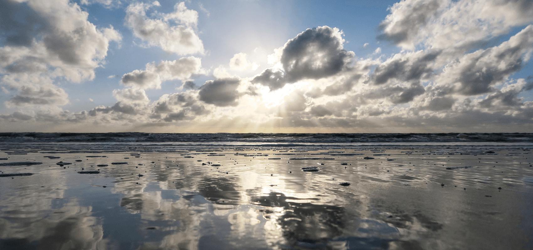 Blick auf das Wattenmeer
